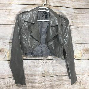 82-89 Bisou Bisou Michele Bohoot faux leather M L